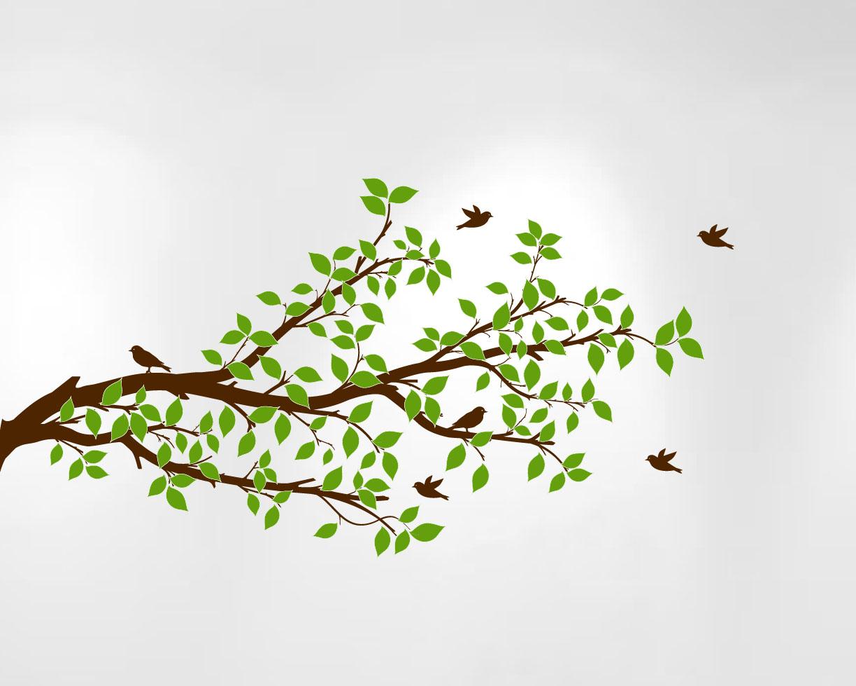 Tree Branches Wall Decal Birds Vinyl Sticker Nursery
