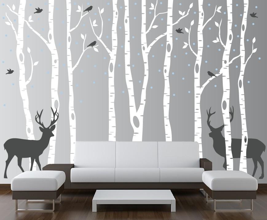 birch tree winter forest