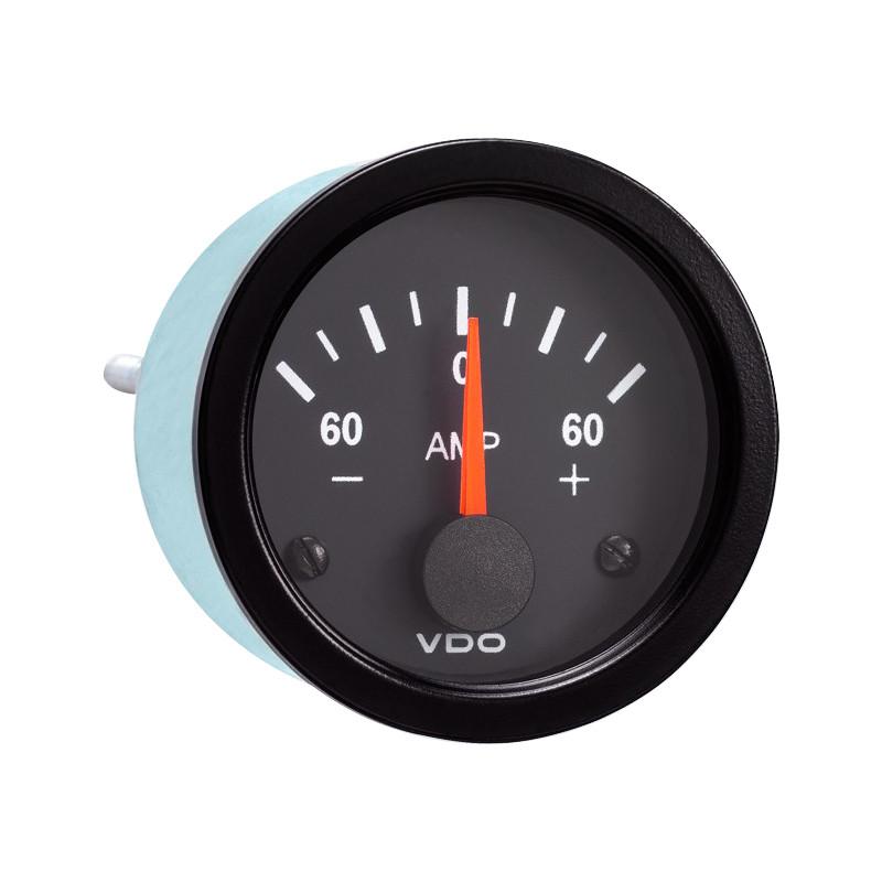 vdo wiring diagram for tachometer 220 volt outlet semi truck electrical ammeter gauge vision black - raney's parts