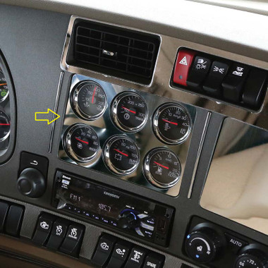 1996 Gmc Wiring Diagrams Kenworth T680 Amp T880 Six Gauge Cluster Above Radio Trim By