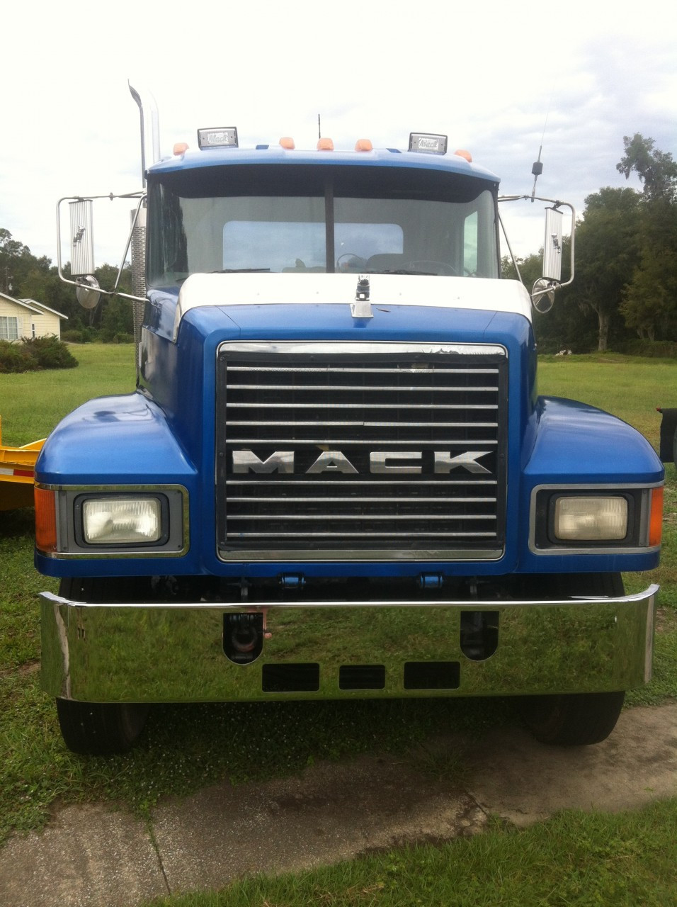 hight resolution of mack ch 14 chrome bumper set forward axle by valley chrome raney s truck parts