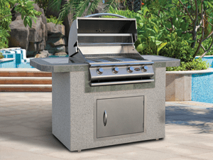 outdoor kitchen bbq irish blessing cal flame barbecue island 601 san