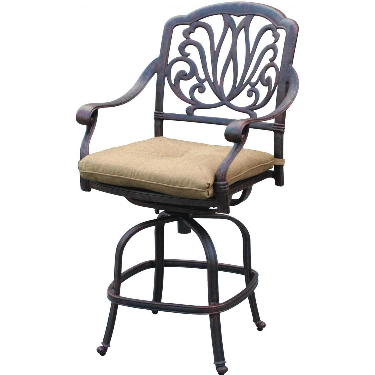 Swivel Bar Chairs Darlee Elisabeth Counter Height Swivel Bar Stool Antique Bronze