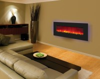 "Amantii Electric Fireplace - 48"" Wide, Wall Mount or Built-In"