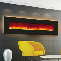 Electric Fireplace - order online - 72 inches wide - back lit