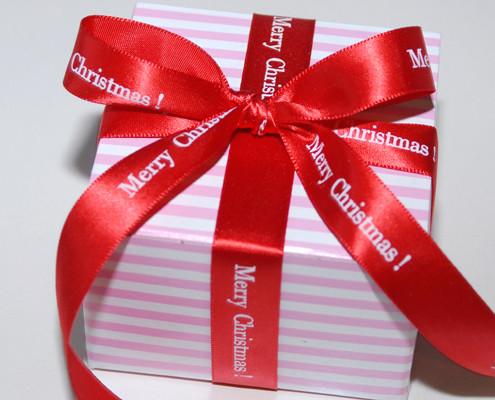 Personalized 58 Satin Christmas Ribbon