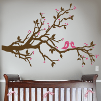 Love Birds Branch Wall Decal   DecalMyWall.com