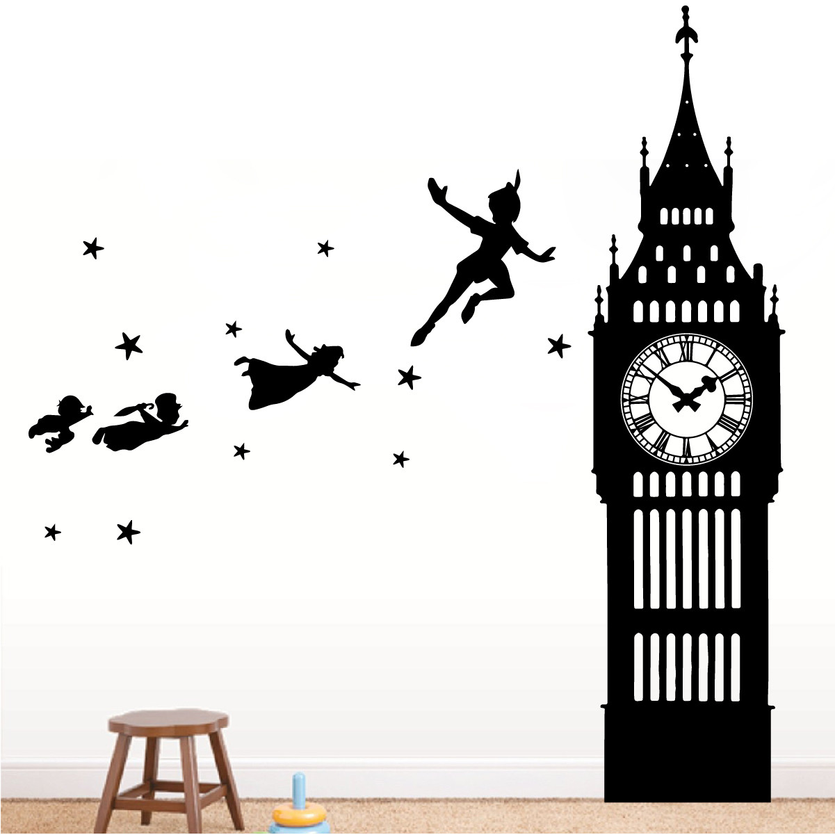 peter pan big ben wall decal the decal guru