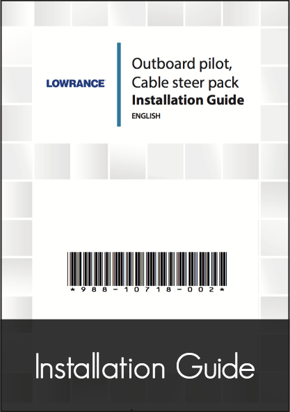 Lowrance Outboard Pilot Cable Steer Pack