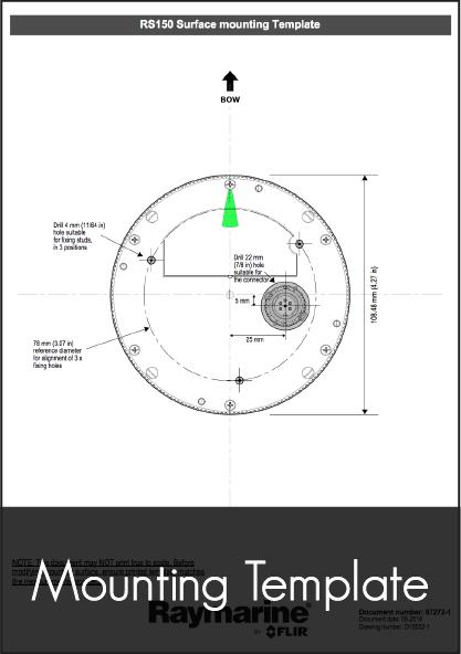 Raymarine RS150 GPS and Pole Mount Topfil