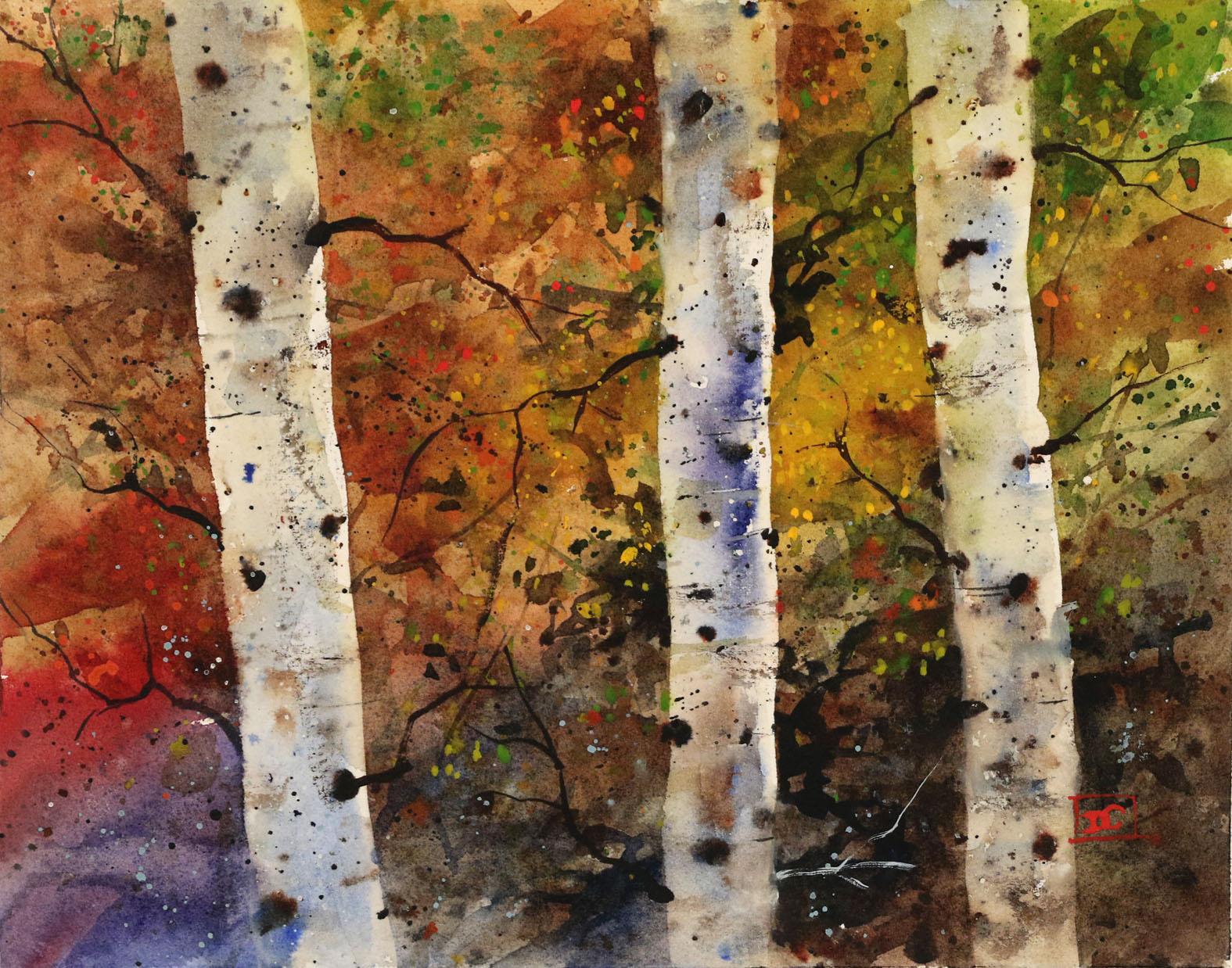 Birch Tree Fall Wallpaper The Art Of Dean Crouser