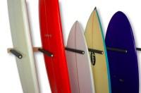 Vertical Surfboard Wall Rack | 3, 6, or 9 Wood Surf Rack ...