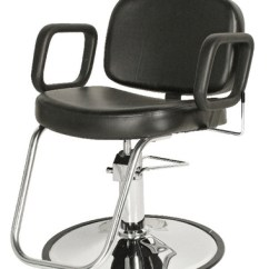 White Multi Purpose Salon Chair Kitchen Table Chairs With Arms Furniture Equipment Sterling All Boss Beauty Image 1
