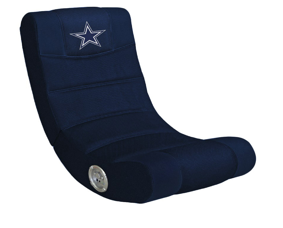 Dallas Cowboy Chair Dallas Cowboys Blue Rocker Chair W Built In Blue Tooth