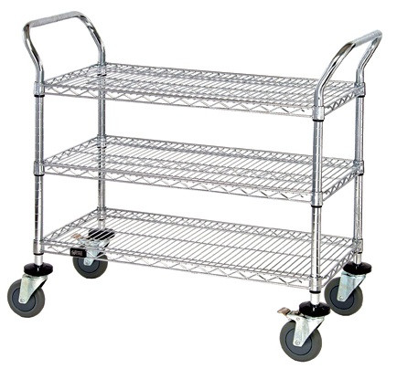 New Product Alert: Chrome 3 Shelf Rolling Utility Cart for