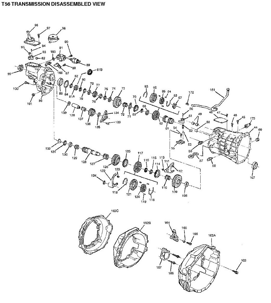 Tremec T56 Parts Diagram