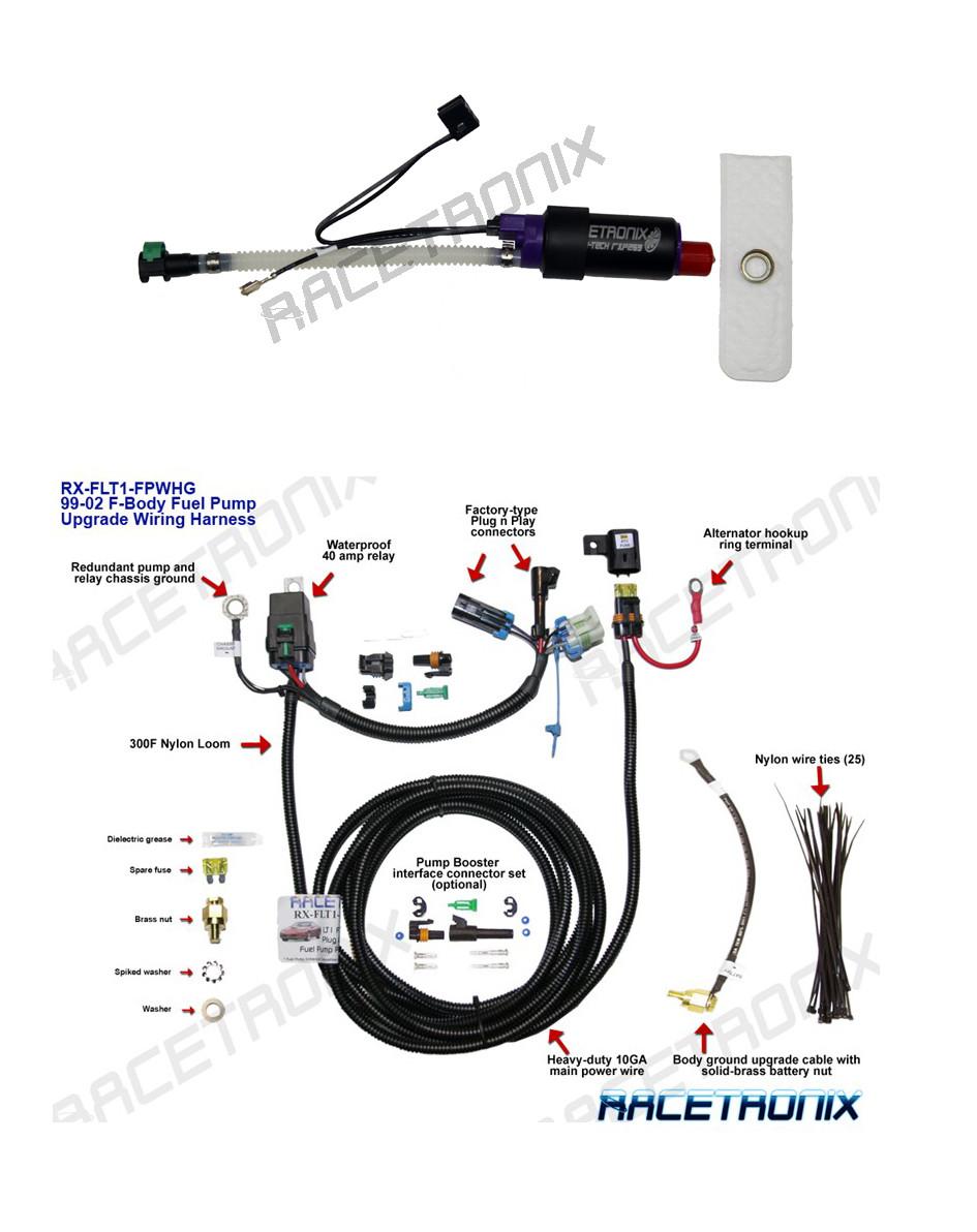 fuel pump kit racetronix lt1 5 7l f body fuel pump u0026 wiring harness [ 945 x 1192 Pixel ]