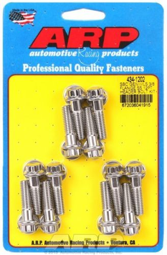 ls1 ls6 ls2 ls3 ls7 12 point stainless steel header bolts set of 12 arp