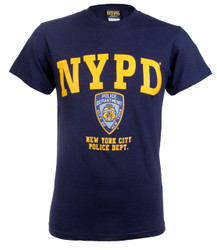 NYPD Badge Navy And Gold T Shirt