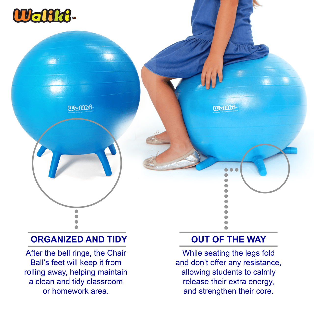 Bounce Chair Chair Ball For Kids Large Blue 20