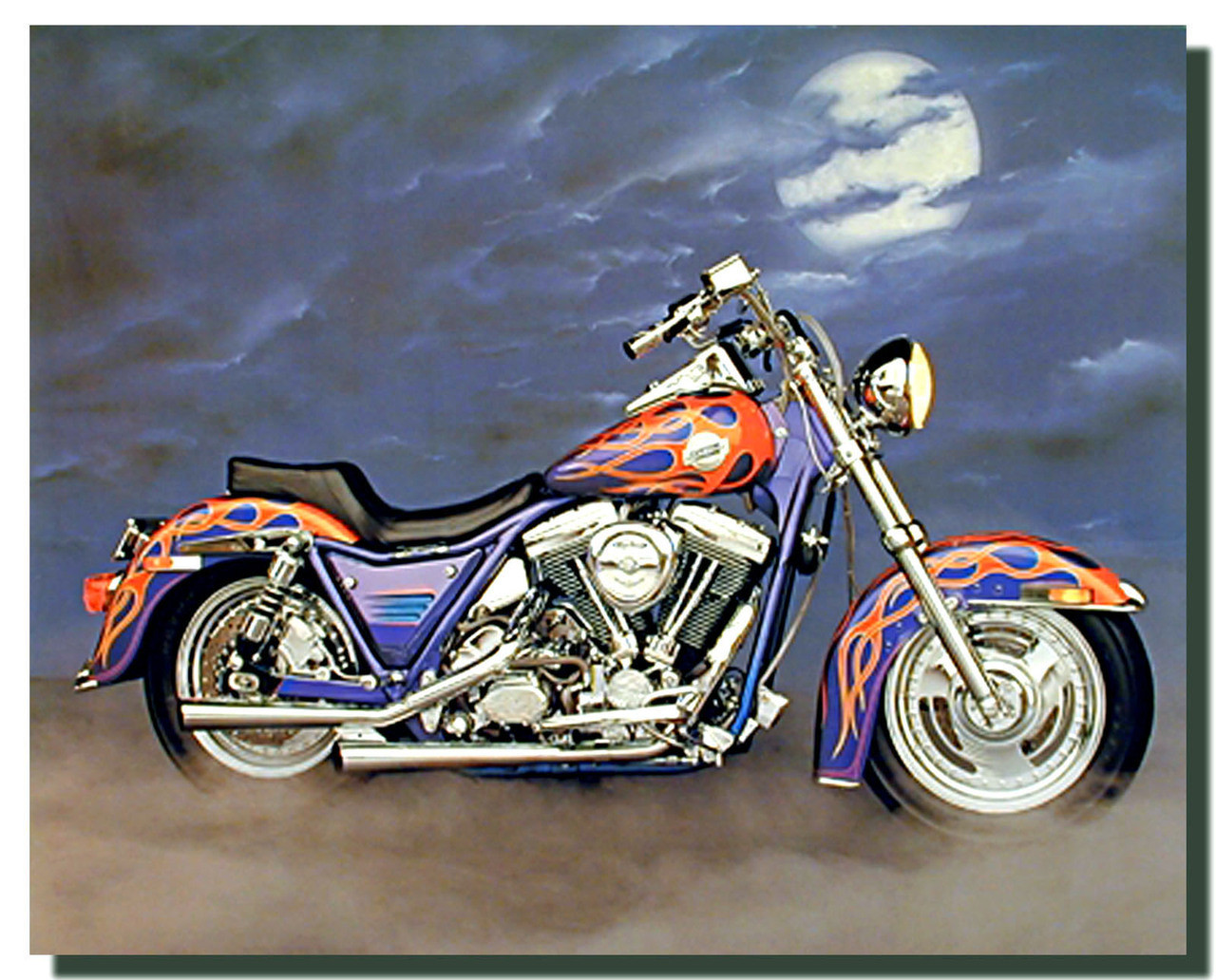1986 Fxr Harley Motorcycle Poster Posters