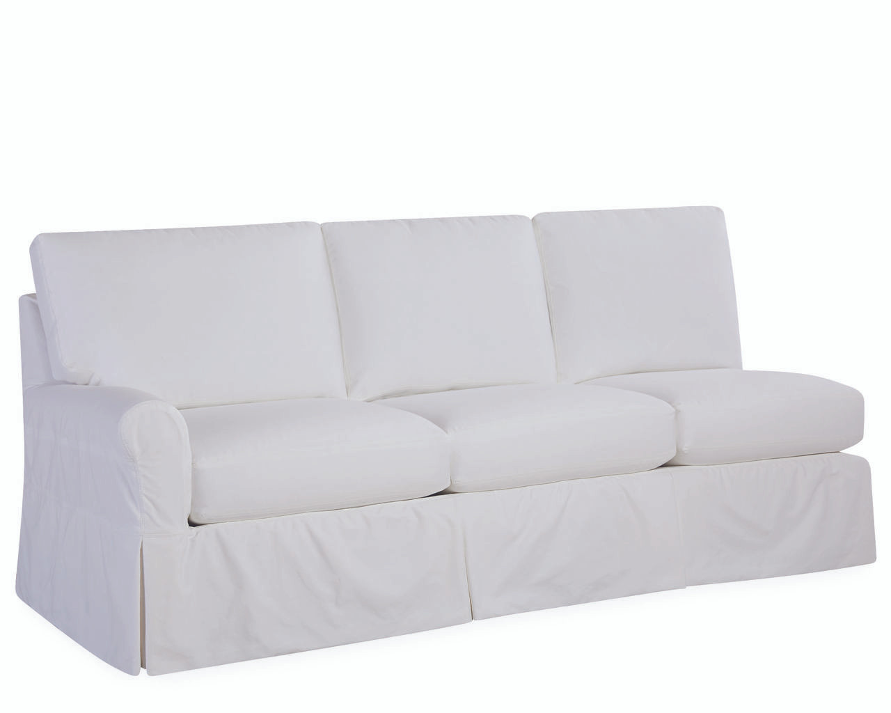 one arm sofa slipcover crate and barrel margot platinum lee essentials slipcovered hover over image to zoom