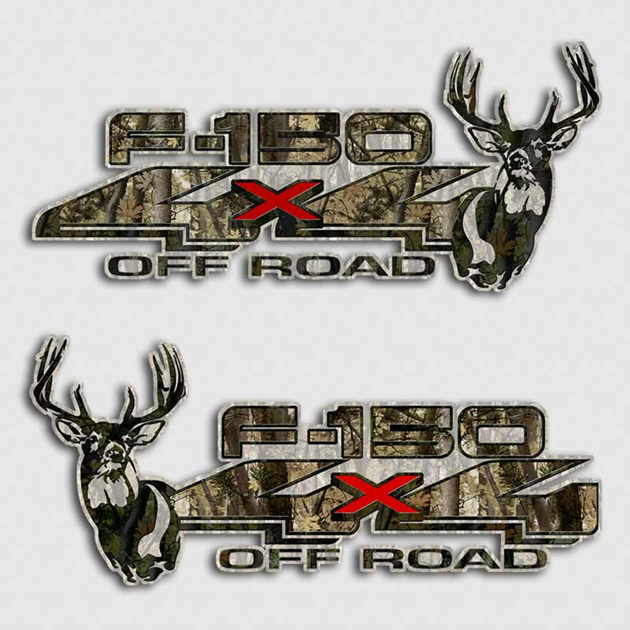 Ford -150 Whitetail Deer Camouflage Truck Decals