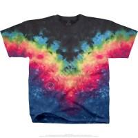 Unprinted Symmetrical Rainbow Unprinted Tie-Dye T-Shirt ...