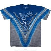 MLB Kansas City Royals V Tie-Dye T-Shirt Tee Liquid Blue