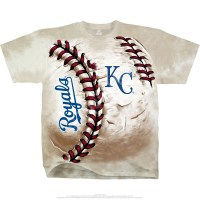 MLB Kansas City Royals Hardball Tie-Dye T-Shirt Tee Liquid ...