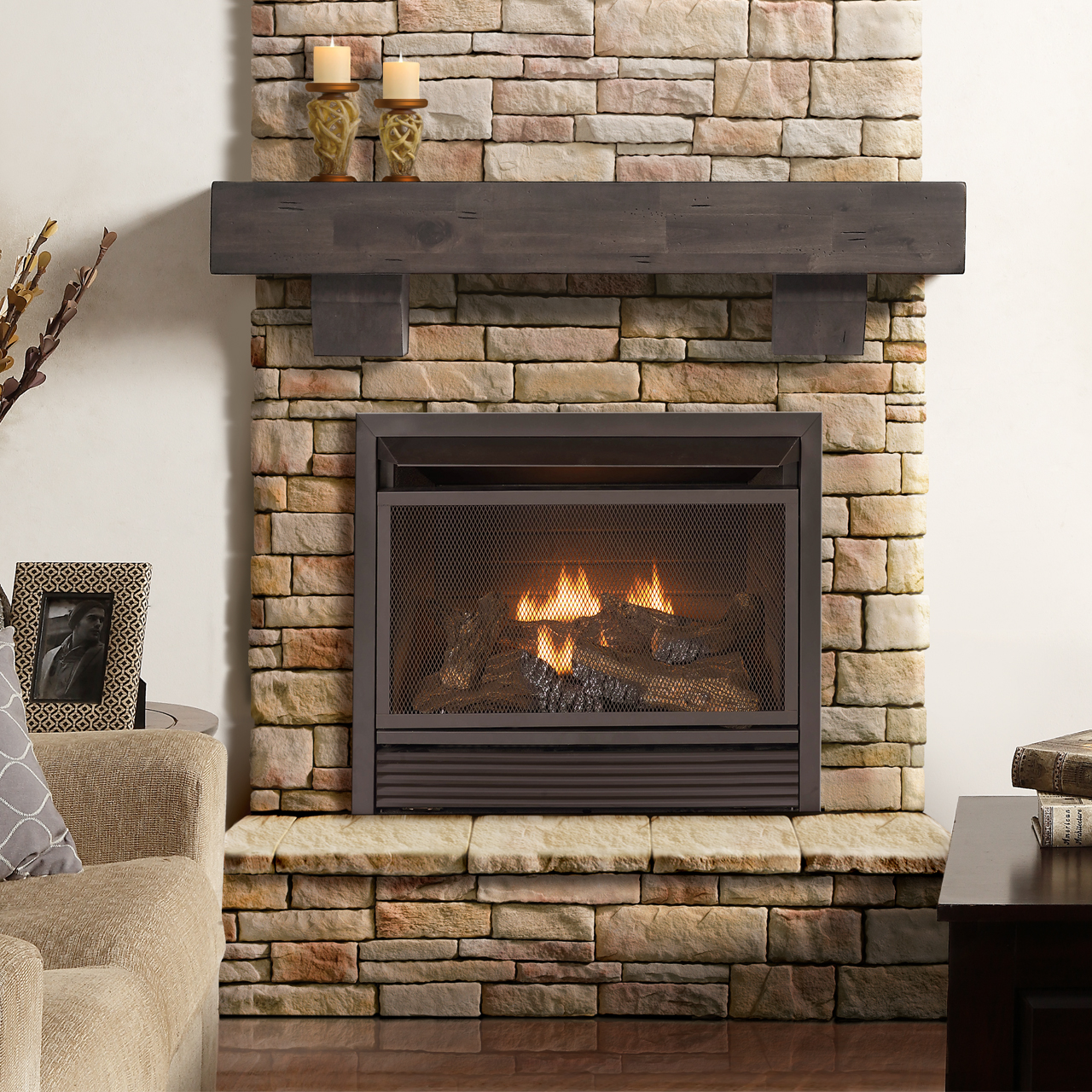 Procom Fireplaces 29 in Ventless Dual Fuel Firebox Insert