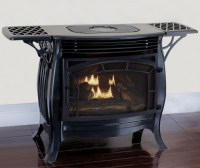 Duluth Forge Dual Fuel Ventless Gas Stove, Gloss Finish ...