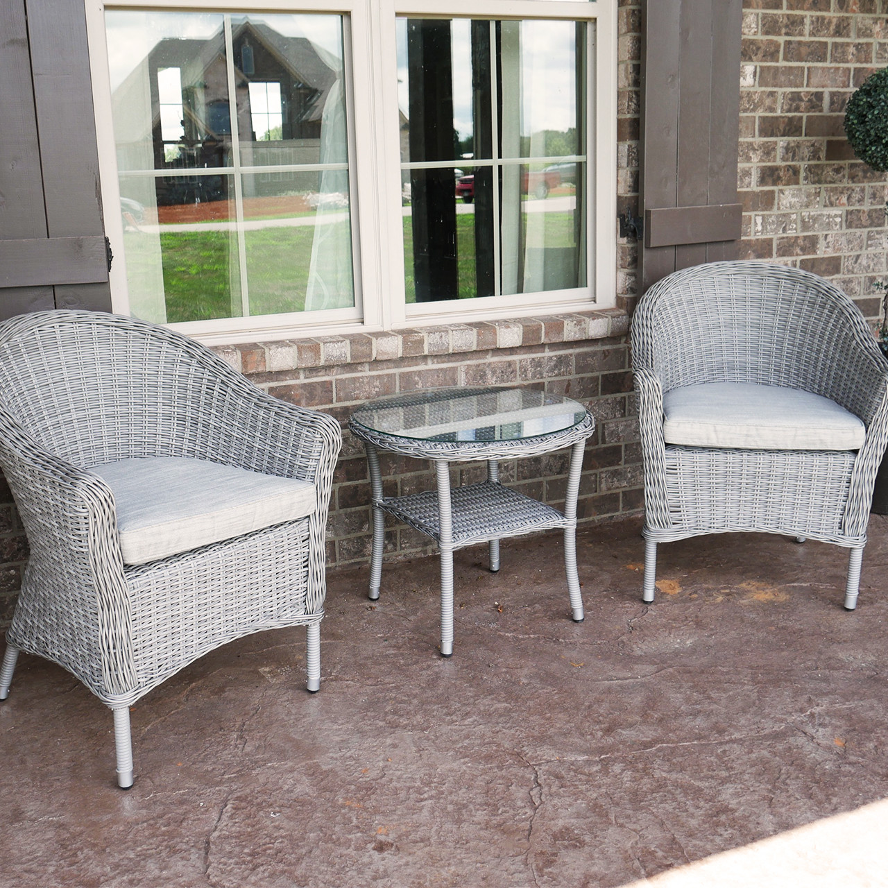 Metal Bistro Table And Chairs Pleasant Bay 3 Piece Outdoor Wicker Patio Bistro Set With Table