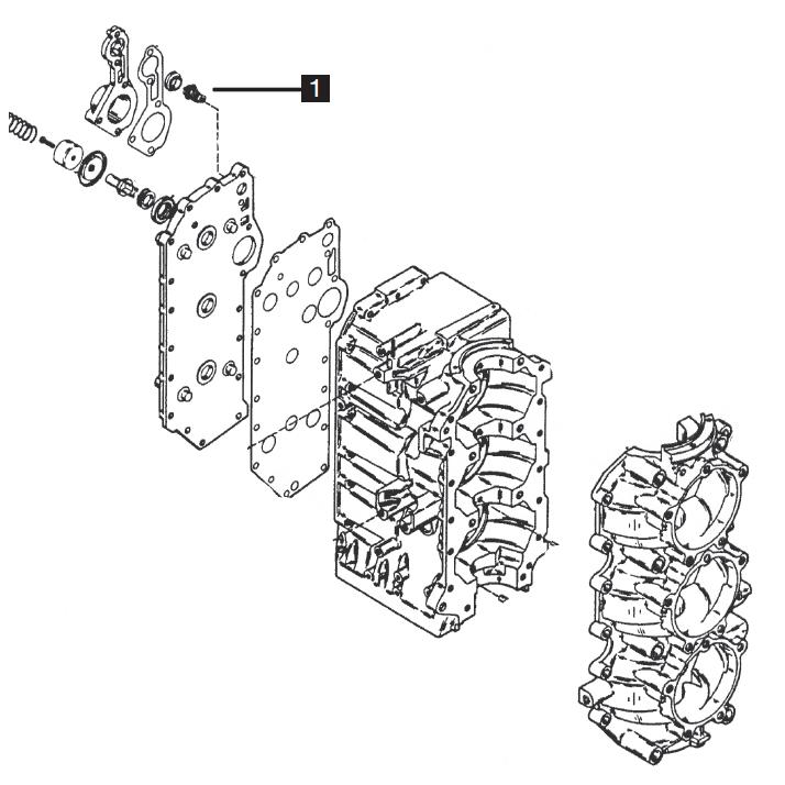 Mercury/Mariner Three Cylinder Powerhead Components 70-90