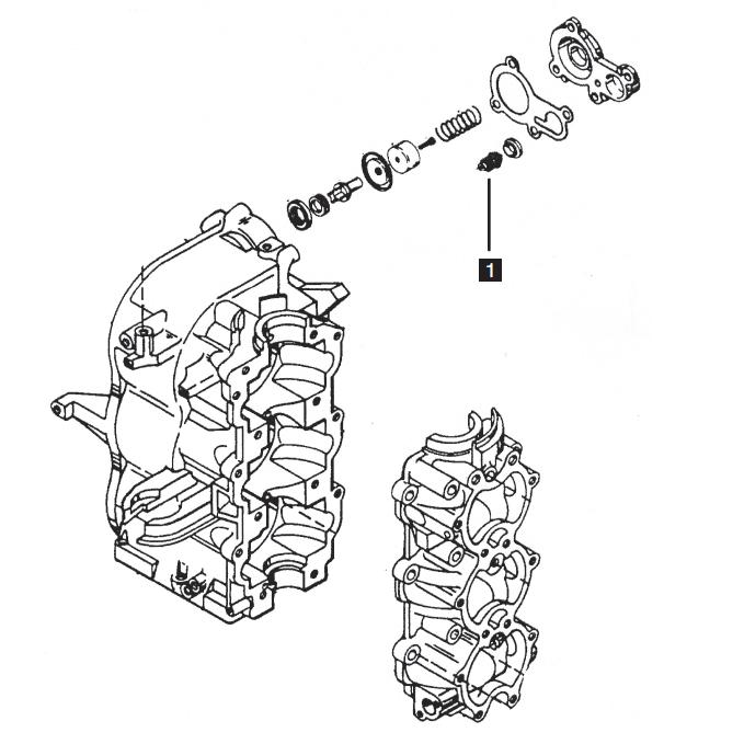 Mercury/Mariner Three Cylinder Powerhead Components