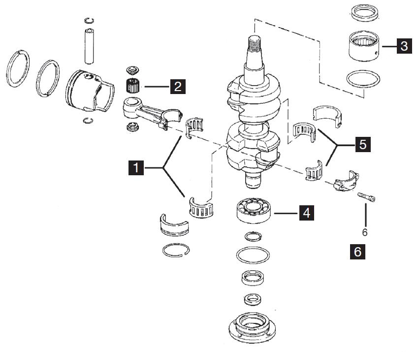 Johnson/Evinrude 2 Cylinder Powerhead Parts