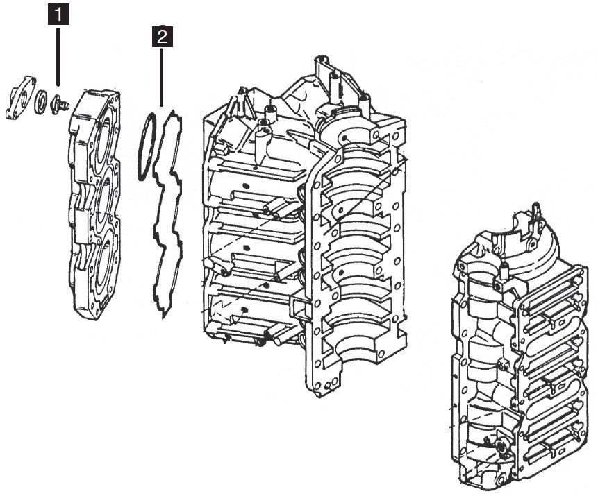 Mercury/Mariner 6 Cylinder Powerhead Parts, 3.0L 225/250