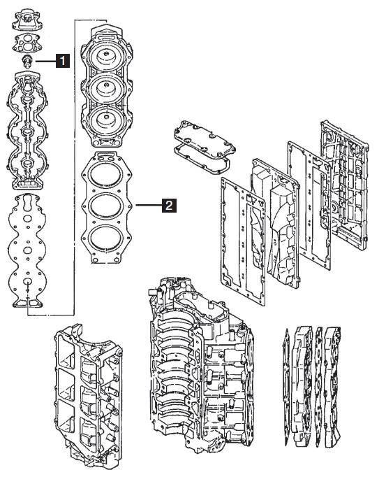 Yamaha 6 Cylinder Powerhead Components, 2.6L HPDI 150-200