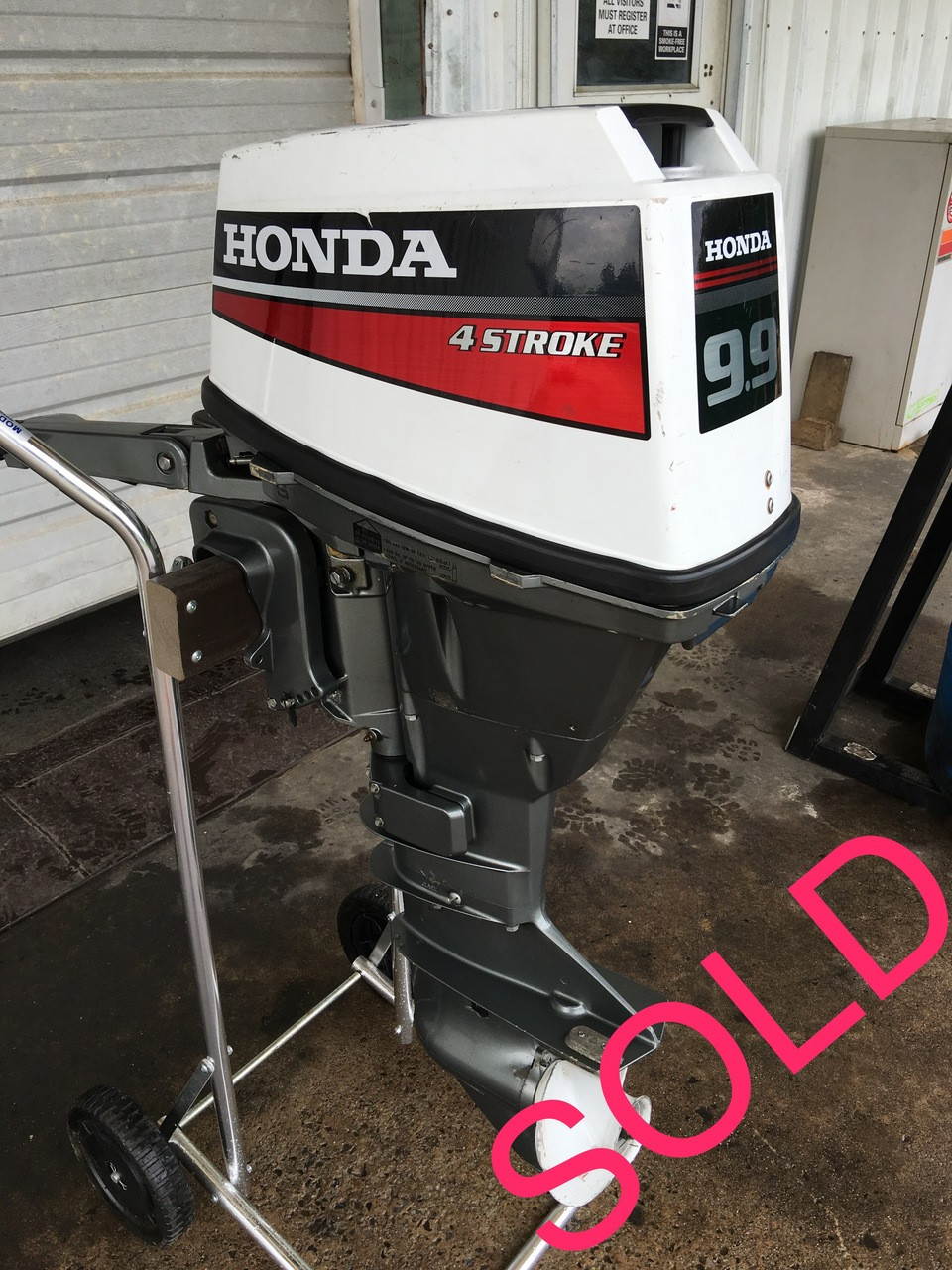 medium resolution of 1990 honda 9 9 hp 2 cyl 4 stroke 15 inch tiller outboard motor