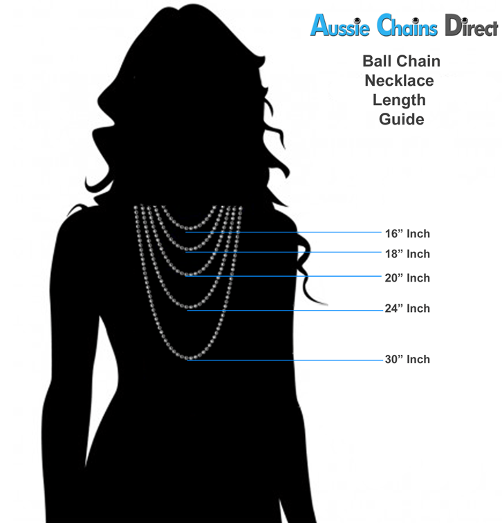 Mens Chain Length Diagram