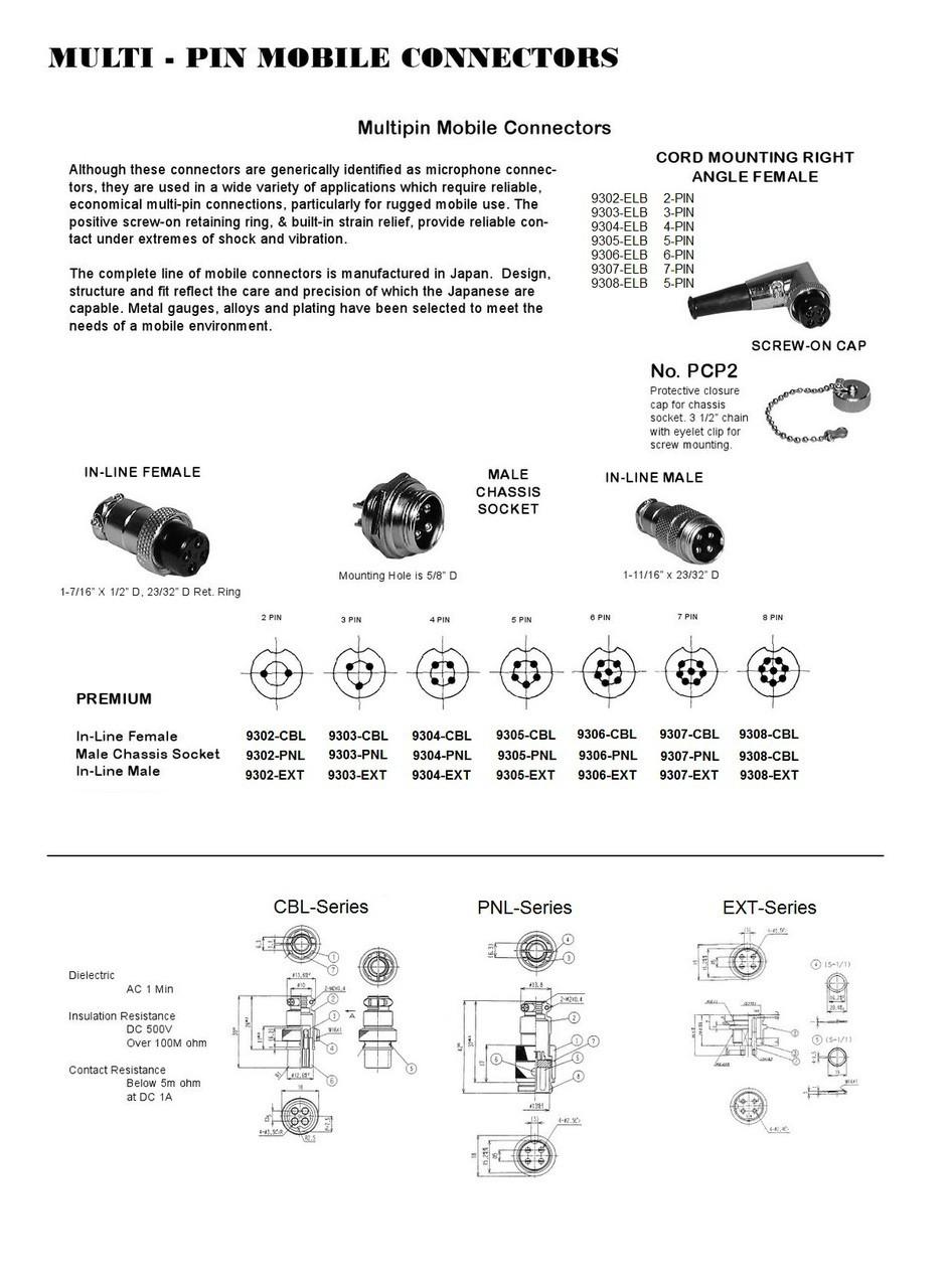 medium resolution of 4 pin ham cb radio microphone connector ars 9304 cbl 4 pair microphone wiring diagram