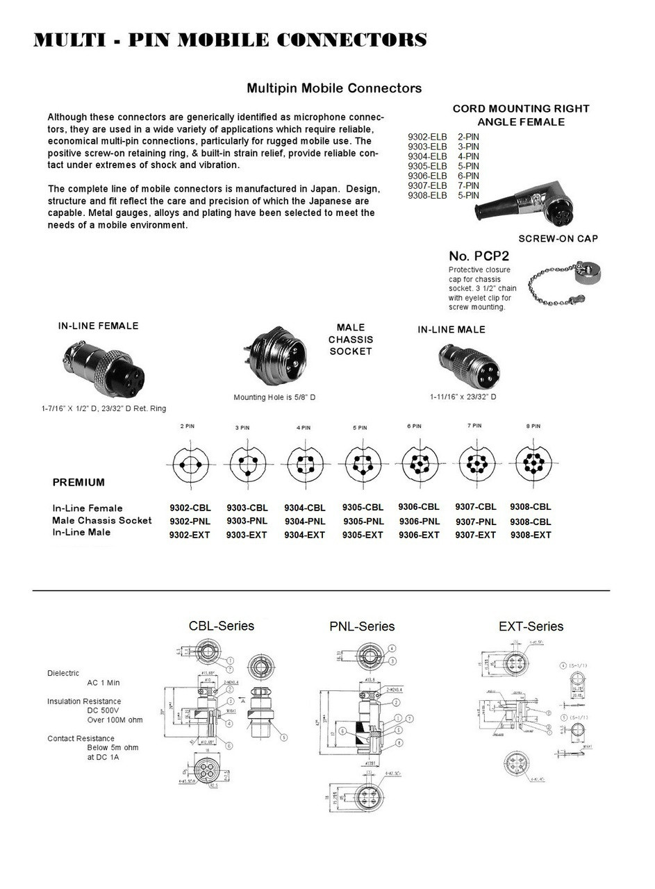 hight resolution of 4 pin ham cb radio microphone connector ars 9304 cbl 4 pair microphone wiring diagram