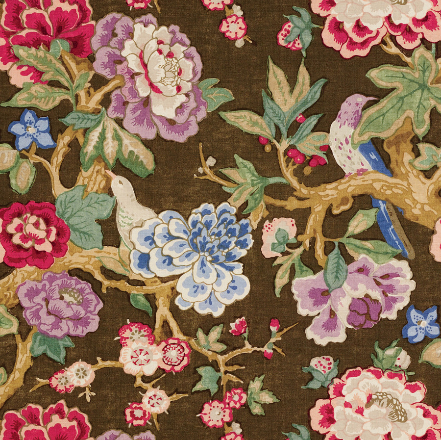 Upholstery Fabric Black With Cabbage Roses Joiedeweave Exploring Mars