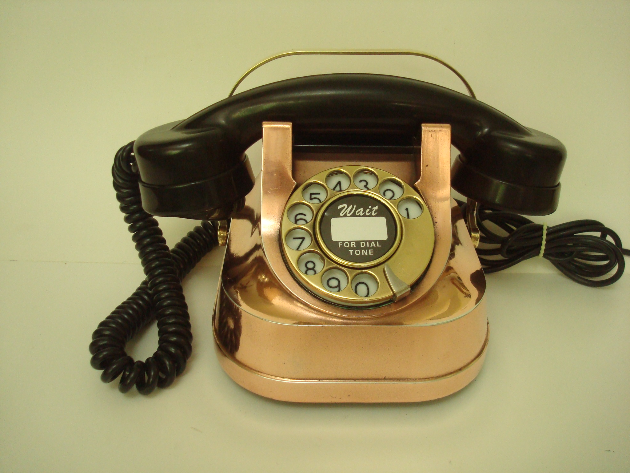 restoration of a heavy copper brass belgium telephone for david hoadley from yelm wa pictured left  [ 2048 x 1536 Pixel ]