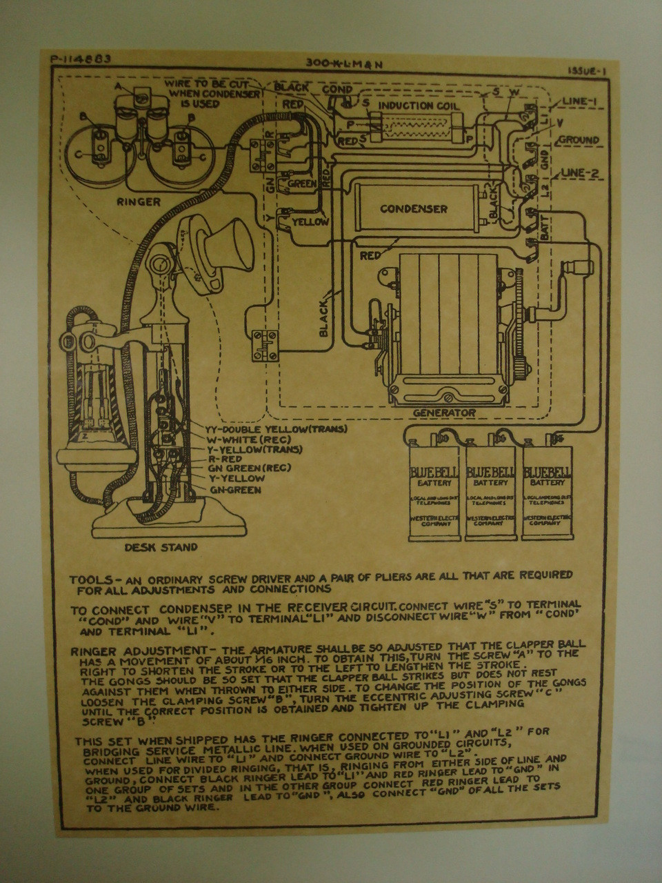 rotary dial telephone wiring diagram dsc 1550 wooden magneto box and candlestick glue on old loading zoom
