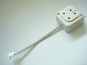 4 prong jack to modular adapter for antique telephones