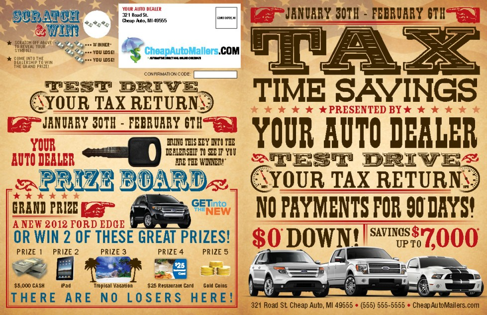 Test Drive Your Tax Return Mailer Booklet