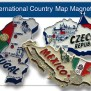 Magnetic Map Country Shaped Magnets Europe Souvenir Magnets