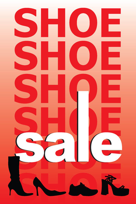 Shoe Sale Posters Style Design ID1100