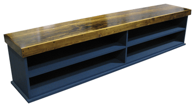 Custom Extra Wide Cubby Bench Shelf Sawdust City Llc
